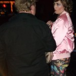 Tammy Pamalovovich in her fabulous pink satin jacket